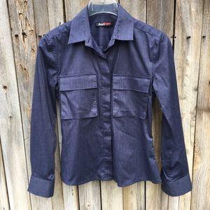 Daryl K Vintage Denim Blue Button Down Shirt P